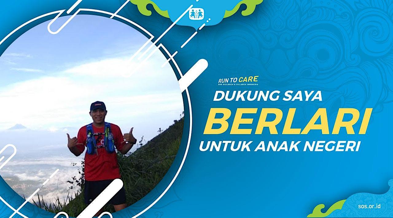 Iyan berlari 150KM untuk Mimpi Anak Indonesia