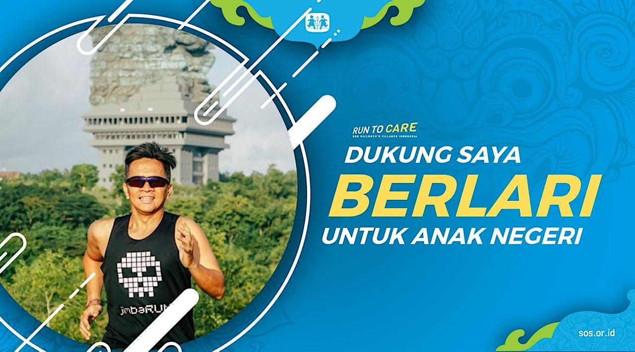 Ngurah berlari 150KM untuk Mimpi Anak Indonesia