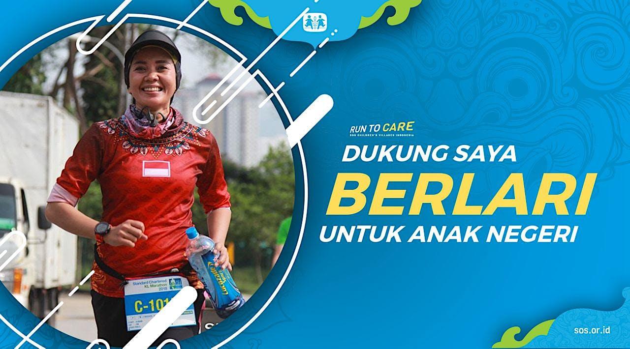 Cici berlari 150KM untuk Mimpi Anak Indonesia
