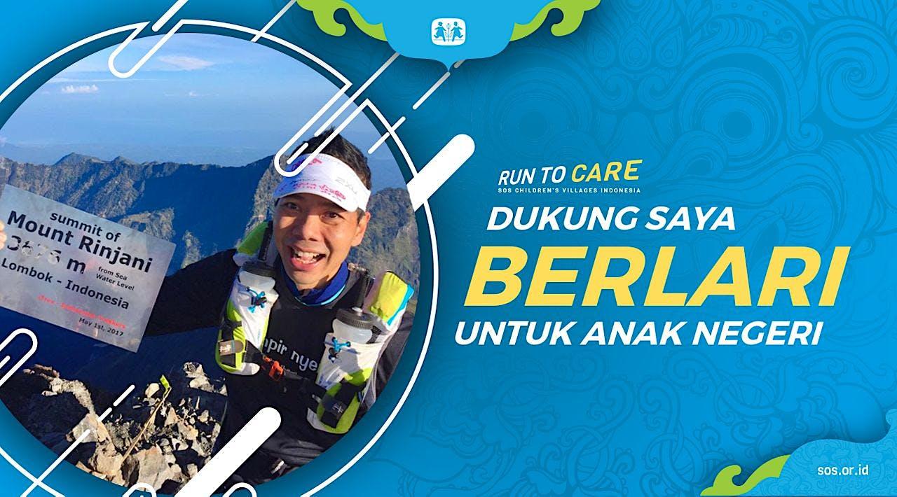 Omar berlari 150KM untuk Mimpi Anak Indonesia