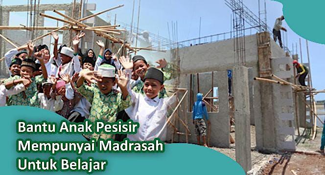 Bantu Pak Karto Bangun Madrasah di Pesisir