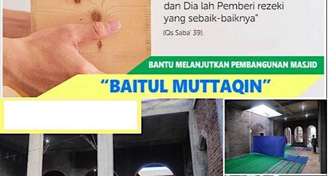 Bantu Pembangunan Masjid Baitul Muttaqin