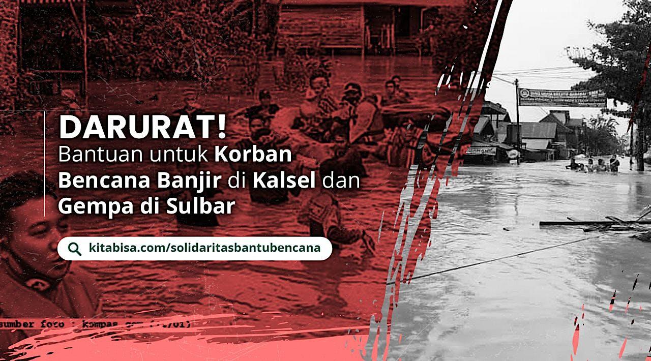 Bersama Bantu Bencana Banjir dan Gempa