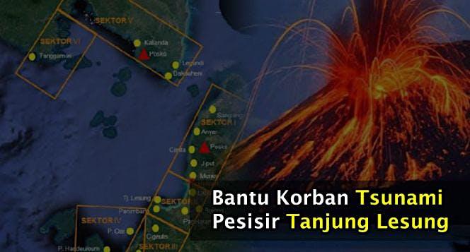 Bantu Korban Tsunami Banten