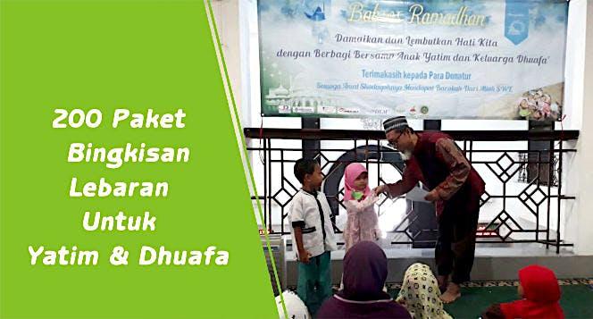 200 Paket Bingkisan Lebaran Untuk Yatim & Dhuafa